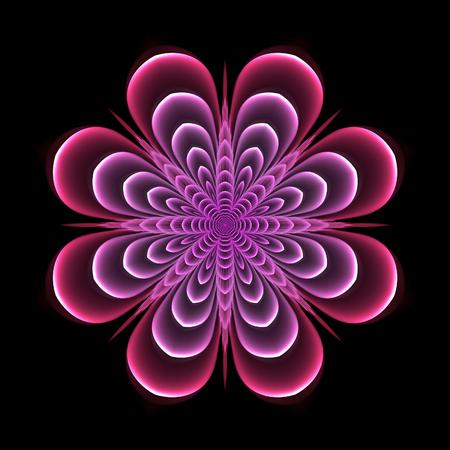 Abstract design in fractal art style - symmetrical flower