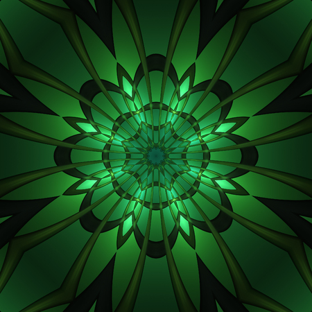 Abstract green design in fractal art style
