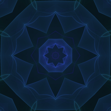 Crazy kaleidoscopic a little bit blurry background in dark blue 写真素材