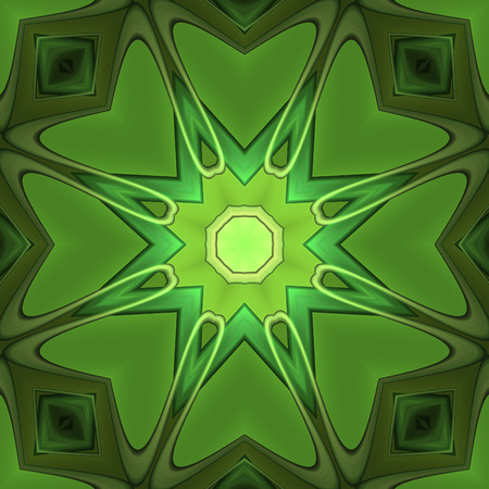 Abstract greenish design in fractal art style