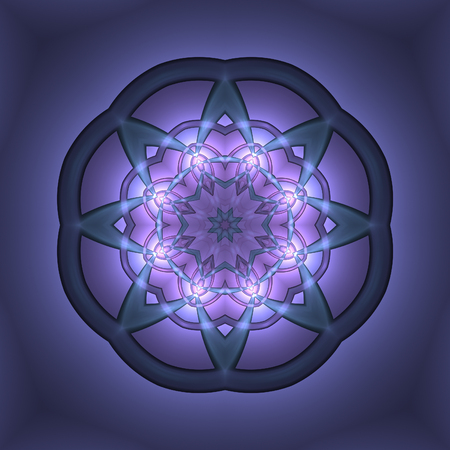 Abstract dark mauve design in fractal art style Stock Photo