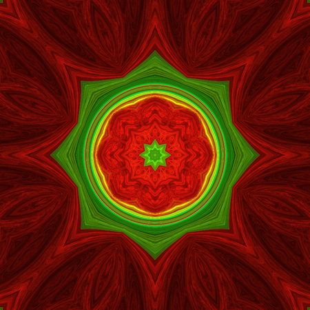 Abstract crazy symmetrical design in fractal art style Фото со стока