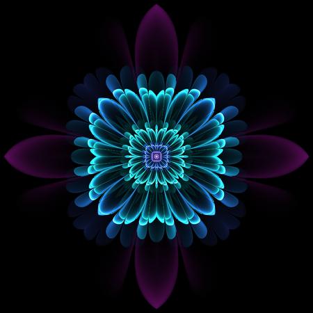 Abstract design in fractal art style - symmetrical pattern Фото со стока