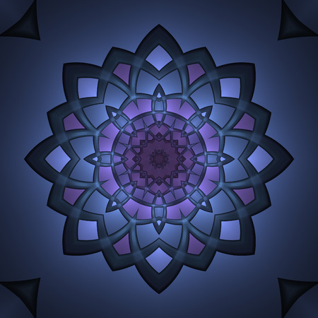Abstract intricate design in fractal art style Фото со стока
