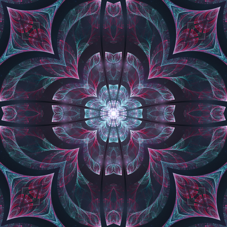 Abstract crazy dark design in fractal art style