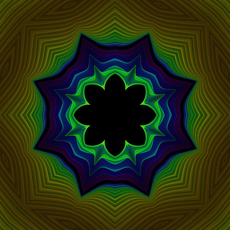 Abstract colorful fractal design on black background
