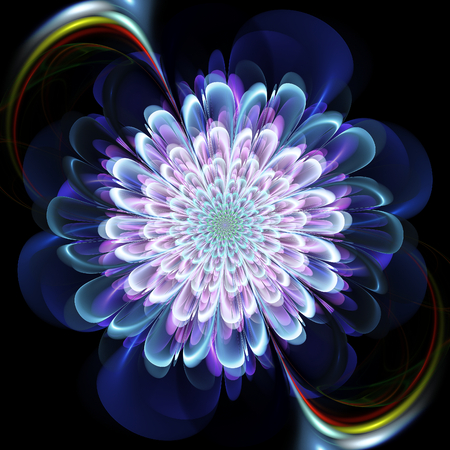 Fractal flower. Abstract fractal art in floral style. Фото со стока