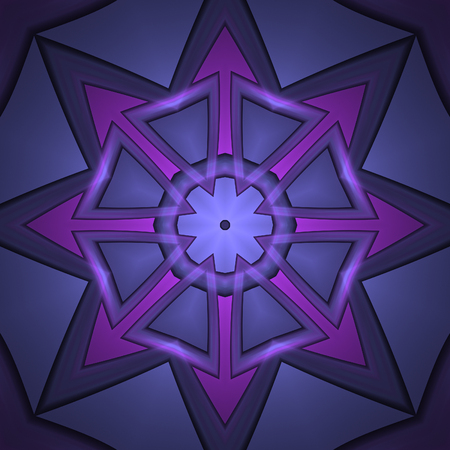 Abstract violet and purple design in fractal art style