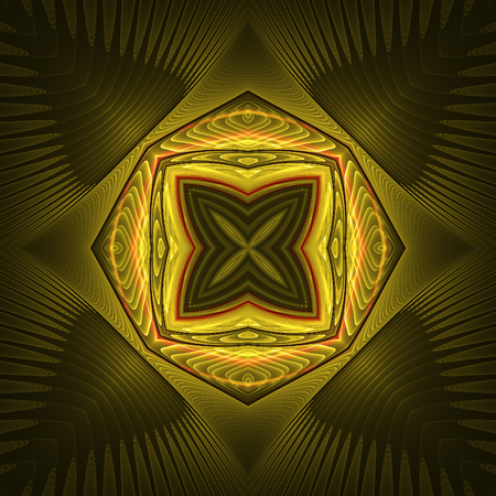Abstract dark fractal design in fractal art style Фото со стока