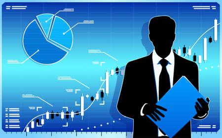 stock trader: Stock comerciante del mercado
