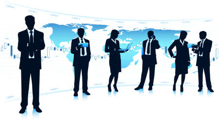 business analysis: Business teamwork Illustration