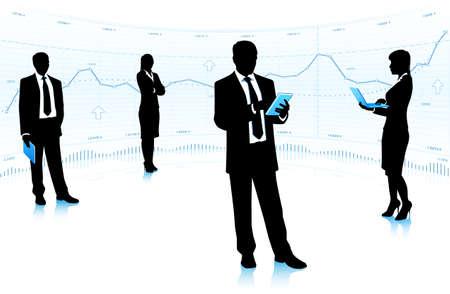 teamleider: Teamleider met mensen uit het bedrijfsleven