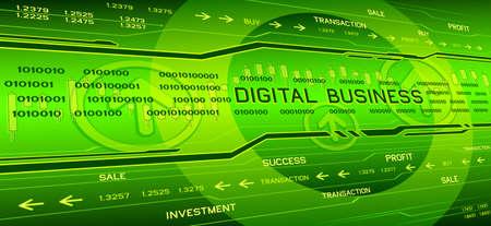 business background: Hi-tech Business background Illustration