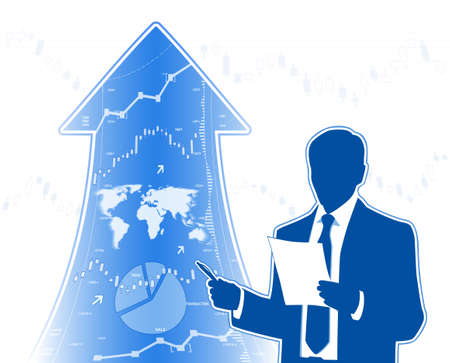growing business: Growing business Illustration