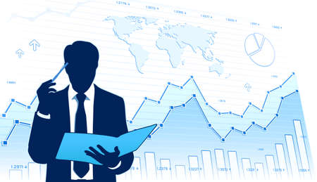 traders: Growing business Illustration