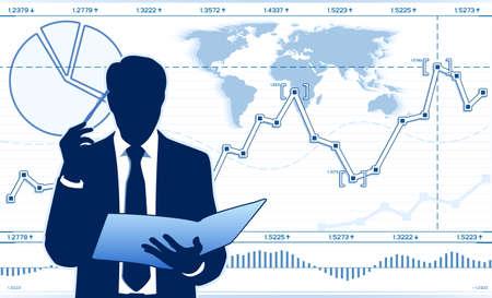 analyst: business analyst Illustration