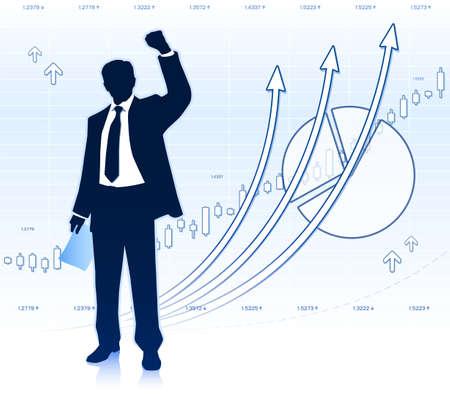 shareholder: happy businessman Illustration