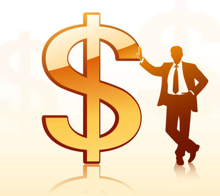 investors: Businessman with dollar sign