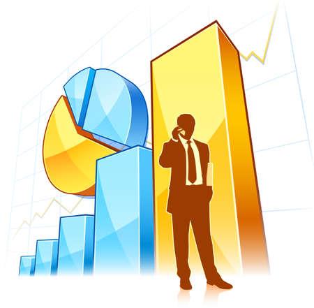 growing business Ilustração
