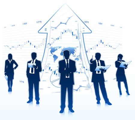 business team Ilustração