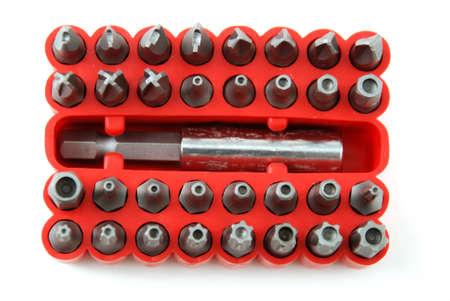 screw: interchangeable screw tips in screwdrivers