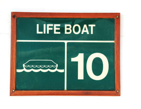 lifeboat: stock pictures of plaques with warnings and prohibitions  Stock Photo