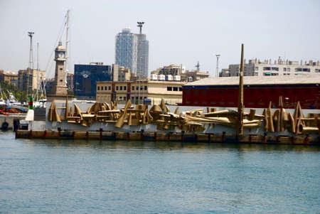 scrap trade: immagini di commercio e industria in un porto o una porta Archivio Fotografico