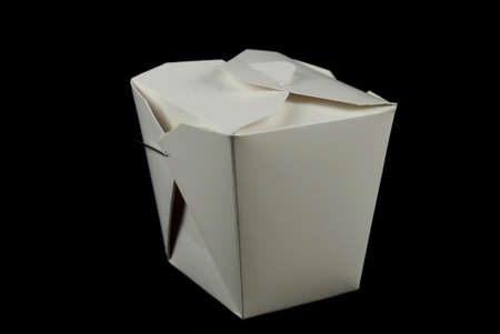 carboard box: stock picture of a small carboard box for chinese food Stock Photo