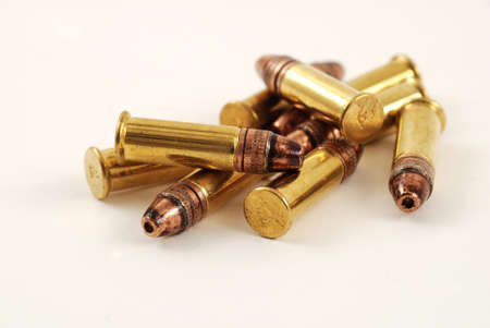 ammunition:  bullets for use in a rifle or gun
