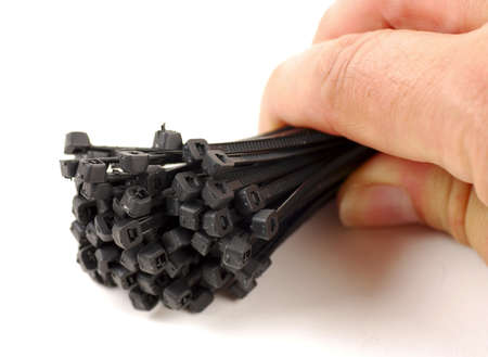 pictures of black cable ties