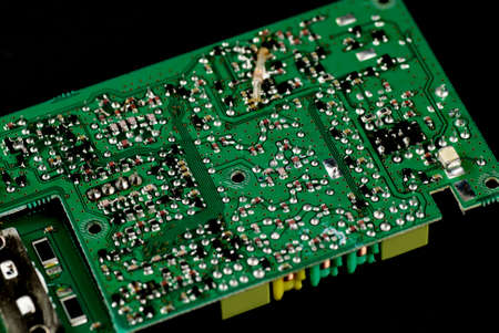 microelectronics: stock pictures of electronic components and boards Stock Photo