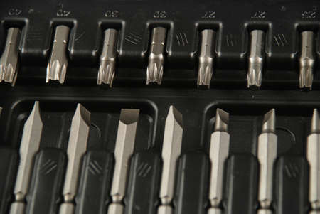 bits: stock pictures of a set of drill bits used to make holes