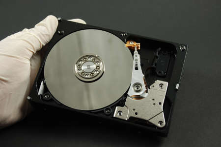 stock pictures of magnetic hard drives used in computers photo