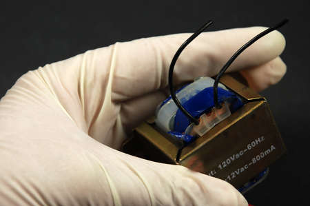 small transformer used for voltage change in household electronic products Stok Fotoğraf