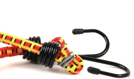 alargamiento: Im�genes de archivo de cuerdas el�sticas con ganchos de acero de varios colores