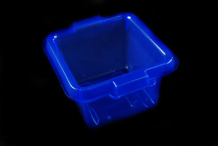 housewares: pictures of blue plastic clear containers for storage