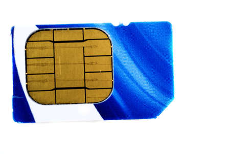 pictures of SIM cards used in cell phones Banco de Imagens