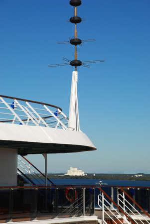starboard: stock pictures of antennas used for telecommunications on a cruise ship