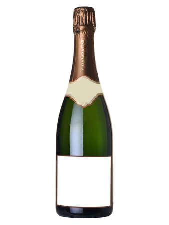 Flasche Champagner mit leerem Etikett Standard-Bild