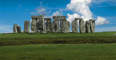 Stonehenge panorama Stock Photo