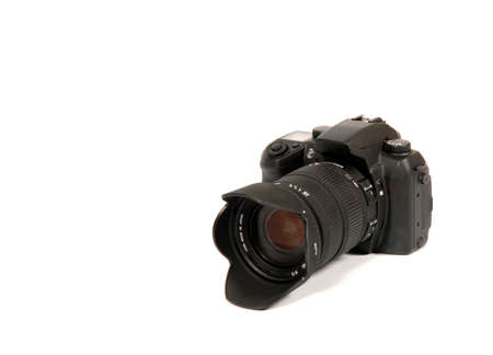 Reflex camera over 100% white background