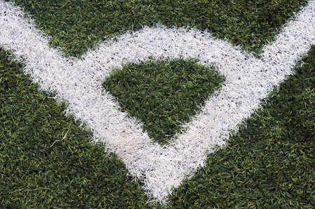 Corner line of a soccer field