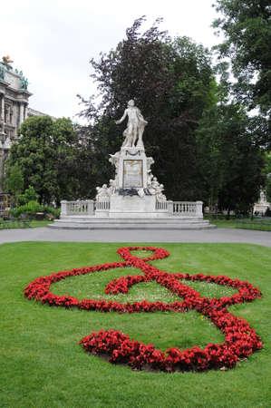Mozart Monument in Maria Theresien square, Vienna, Austria