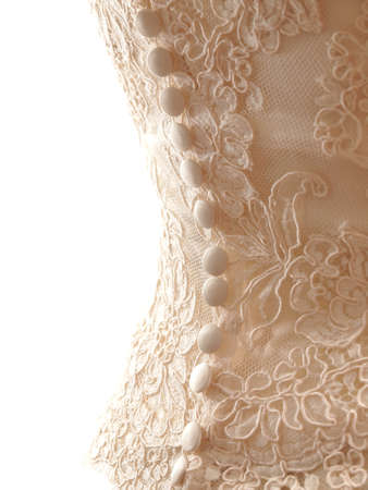 stilish: bride wearing wedding dress corset