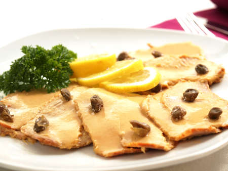 Vitello tonnato - veal with tuna sauce Stock Photo