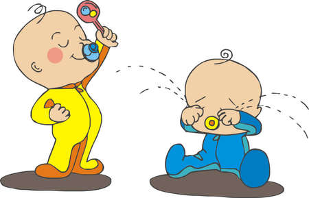 arguing babies Illustration