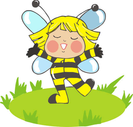 carnival costume: cute baby bee Illustration