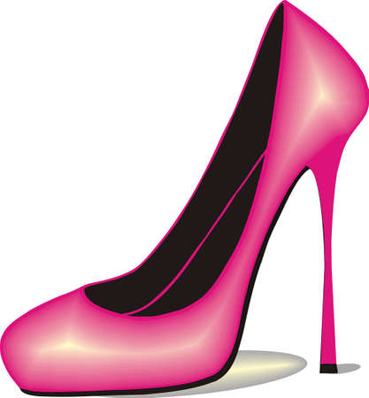 pink stiletto shoe Stock Vector - 12108910