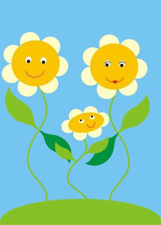 daisy family Vector