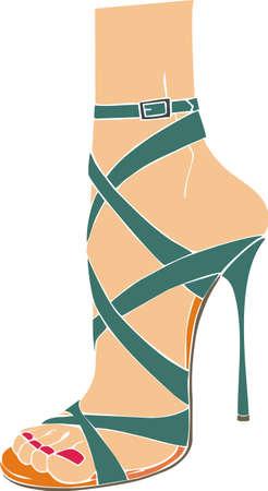 fetysz: kobieta włoski sandał